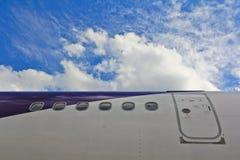 飞机的紧急出口 库存照片