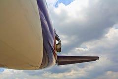 飞机的紧急出口 免版税库存照片