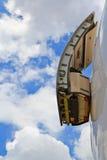 飞机的紧急出口 免版税库存图片