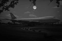 飞机的黑白图象 库存图片