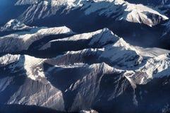 从飞机的himmalaya视图 库存图片