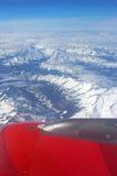 从飞机看见的阿尔卑斯 图库摄影
