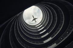 飞机着陆乘客 免版税库存图片