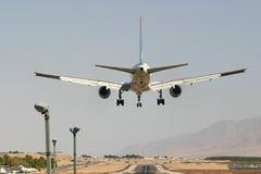 飞机着陆乘客 库存图片