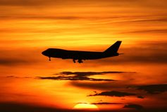飞机着陆 库存照片