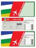 飞机票头等在中非共和国 库存例证