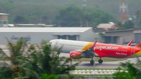 飞机空客320着陆 股票视频