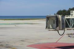 飞机空的门 免版税库存照片