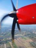 从飞机窗口的看法 免版税库存照片