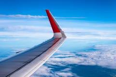 飞机窗口视图,美丽的景色 免版税库存图片
