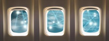 飞机窗口 免版税库存照片
