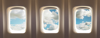 飞机窗口 图库摄影