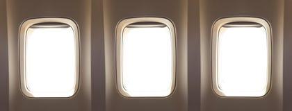 飞机窗口 免版税图库摄影