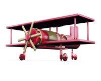 飞机红色玩具 库存例证