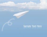 飞机纸天空 库存图片