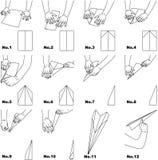 飞机纸张 向量例证