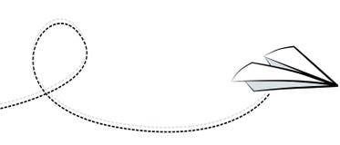 飞机纸白色 免版税图库摄影