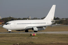 飞机经典喷气机乘出租车 免版税库存照片