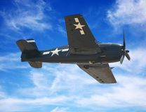飞机美国人战斗机 免版税库存图片
