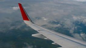 飞机翼在天空和云彩的在移动 影视素材