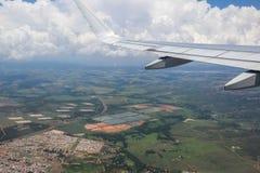飞机翼,巴西, 2016年12月02日:旅行从São Pa 库存照片