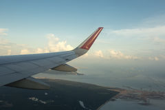 飞机翼 免版税图库摄影