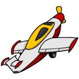 飞机背景查出的玩具白色 皇族释放例证