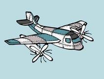 飞机背景查出的玩具白色 免版税库存图片
