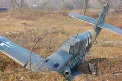 飞机被击碎的德语 免版税库存图片