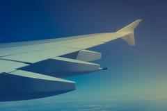 飞机覆盖软的视图视窗翼 图库摄影