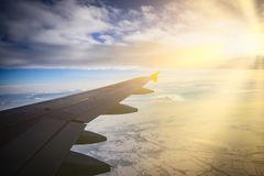 飞机视图窗口 免版税图库摄影