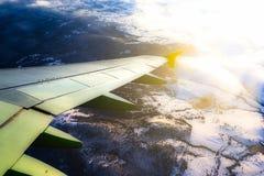 飞机视图窗口 免版税库存照片