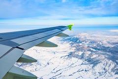 飞机视图窗口 免版税库存图片