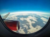 飞机视图 免版税库存图片