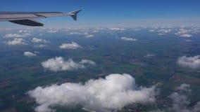 从飞机视窗的视图 股票录像