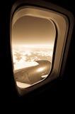 飞机视窗 库存图片