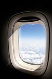 飞机视窗 免版税库存图片