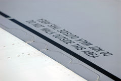 飞机警告 库存图片