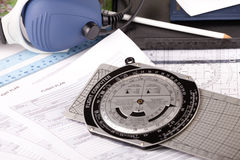 飞机设备飞行员 免版税图库摄影