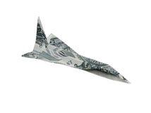 飞机货币 图库摄影