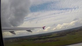 飞机起飞,地面加速得到上限日的空气高度 影视素材