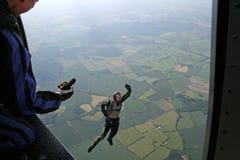 飞机跳跳伞运动员学员 库存照片