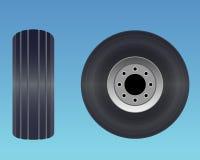 飞机轮胎 库存照片