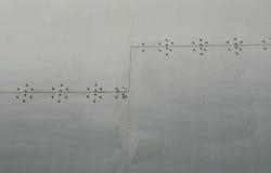 飞机铆钉 免版税图库摄影