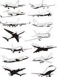飞机集 免版税图库摄影