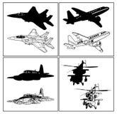 飞机集 图库摄影