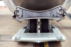 飞机雪滑雪齿轮 库存图片