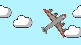飞机飞行动画象 皇族释放例证