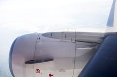 飞机飞行喷气机引擎  免版税库存图片