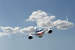飞机飞行喷气机 库存图片